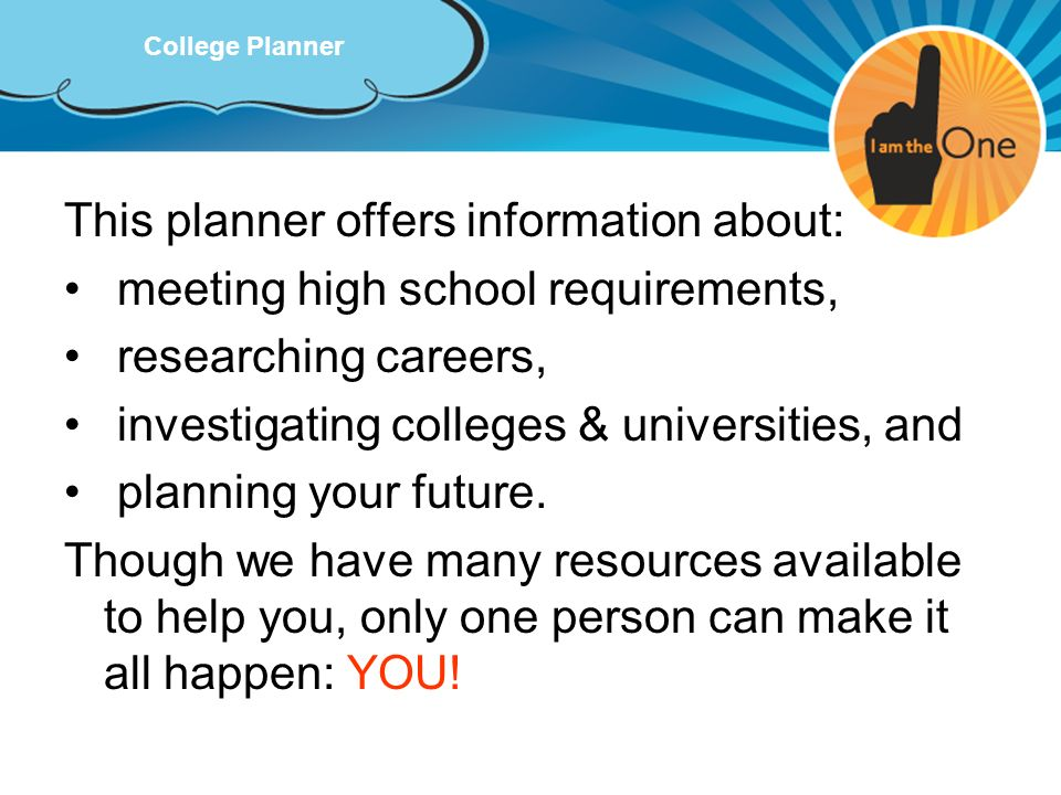 This planner offers information about: