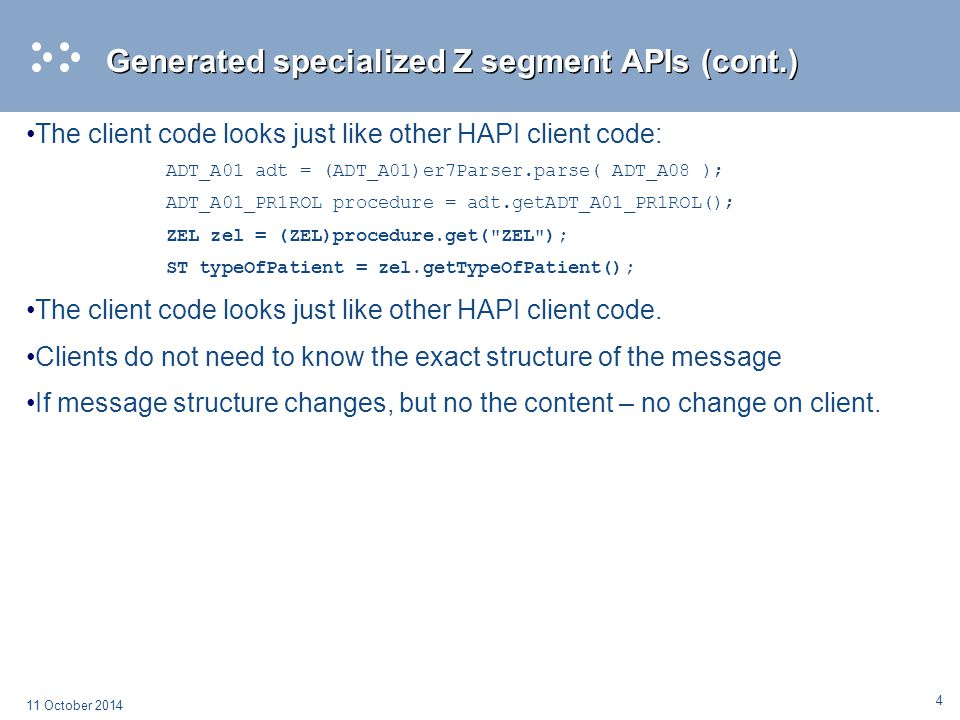 Generated specialized Z segment APIs (cont.)