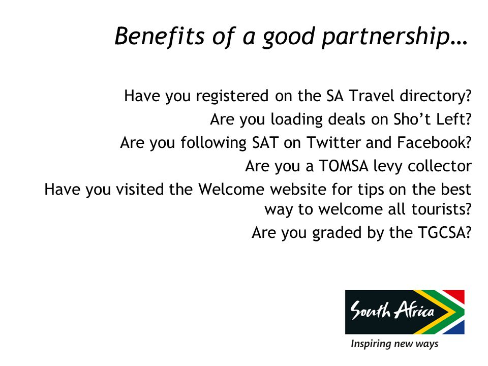 Benefits of a good partnership…