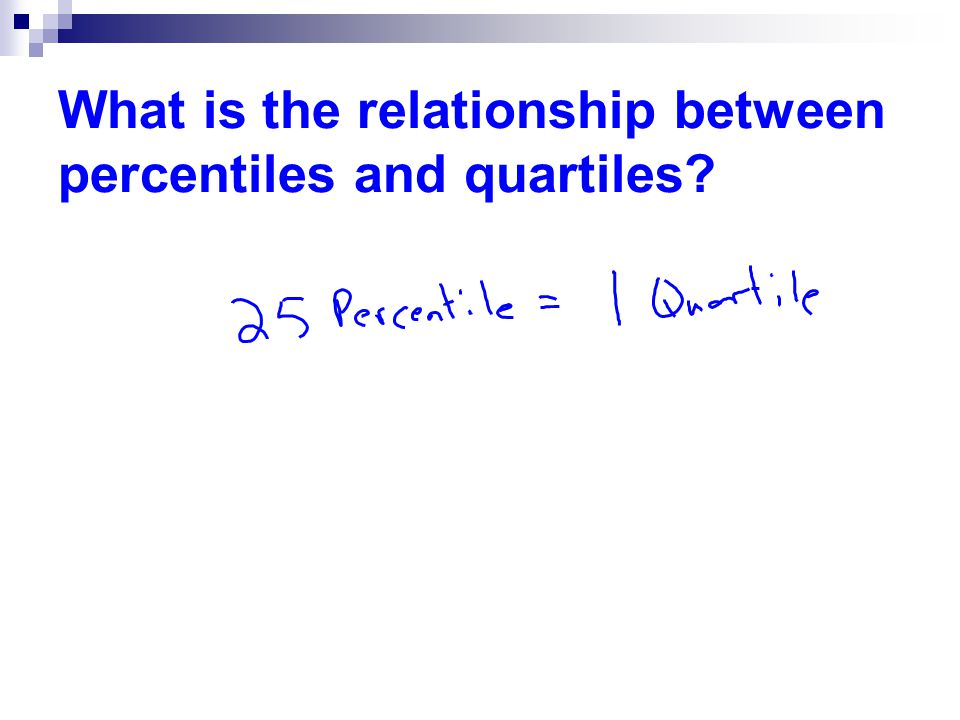 What is the relationship between percentiles and quartiles
