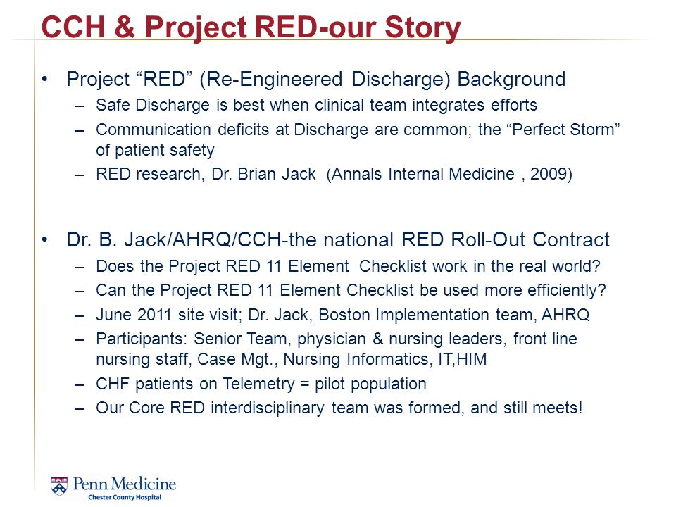 CCH & Project RED-our Story