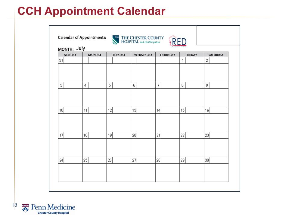 CCH Appointment Calendar