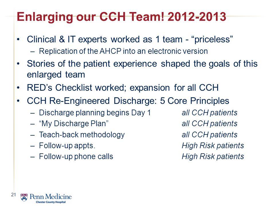 Enlarging our CCH Team! 2012-2013