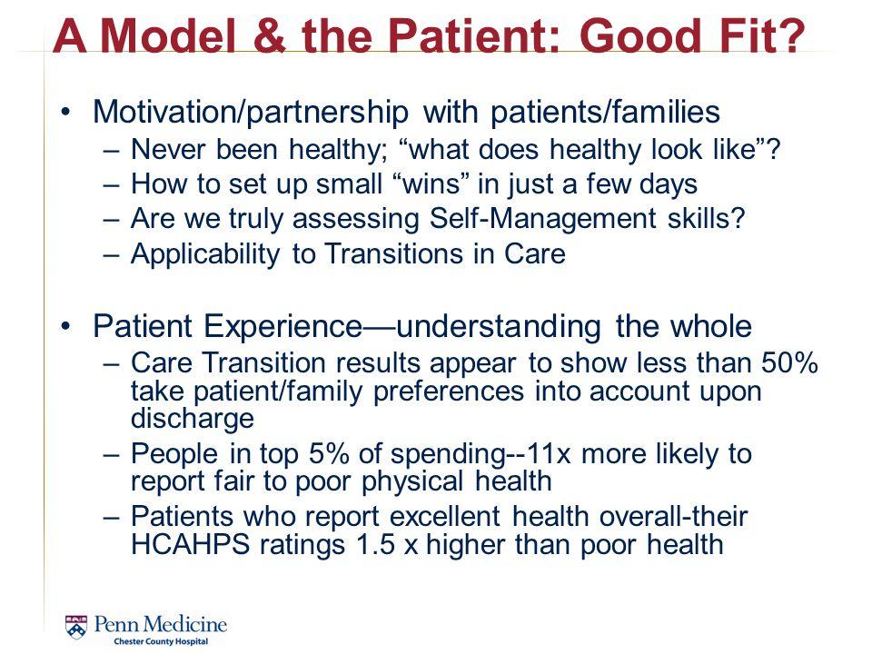 A Model & the Patient: Good Fit