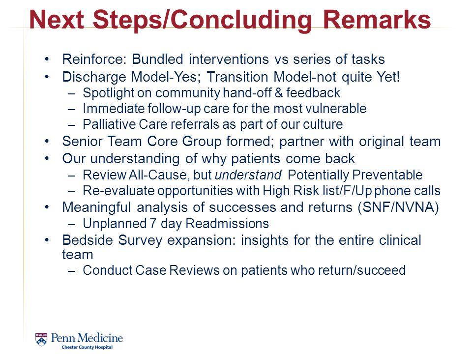 Next Steps/Concluding Remarks