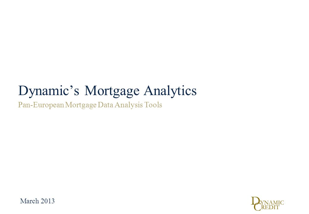 Dynamic's Mortgage Analytics