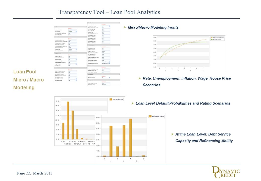 Transparency Tool – Loan Pool Analytics