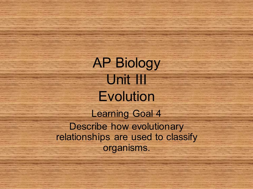 AP Biology Unit III Evolution