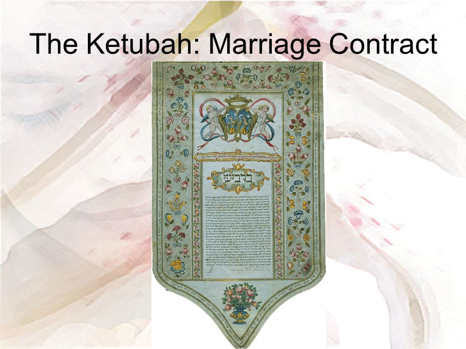 The Ketubah: Marriage Contract