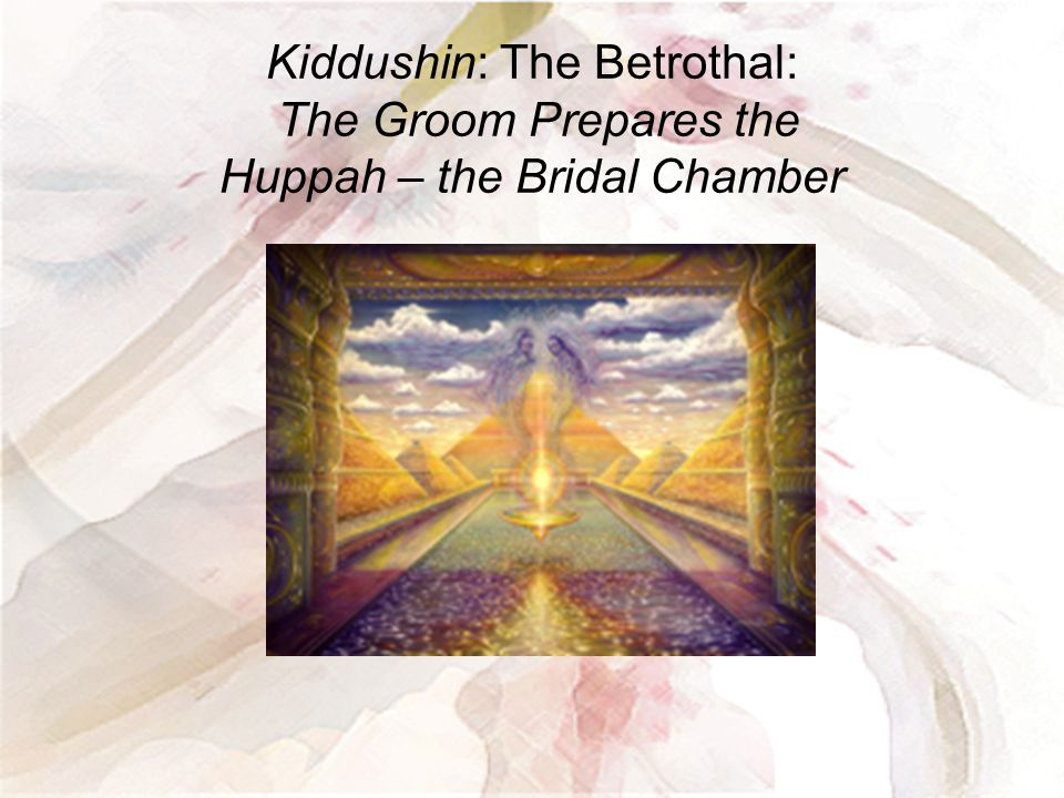 Kiddushin: The Betrothal: The Groom Prepares the Huppah – the Bridal Chamber