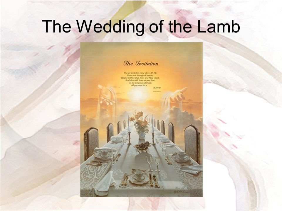 The Wedding of the Lamb