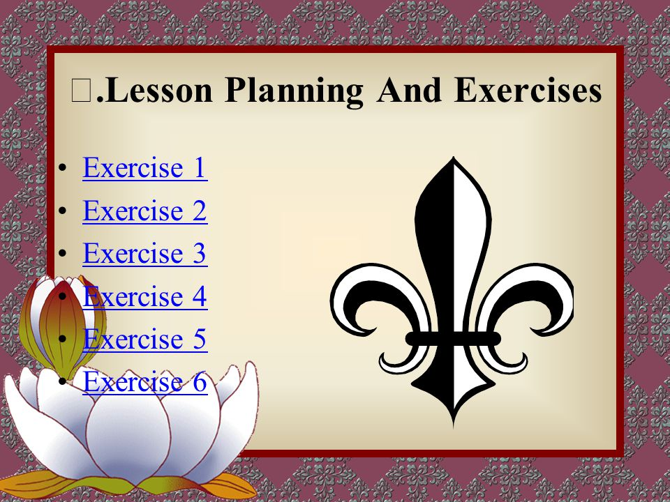 Ⅴ.Lesson Planning And Exercises