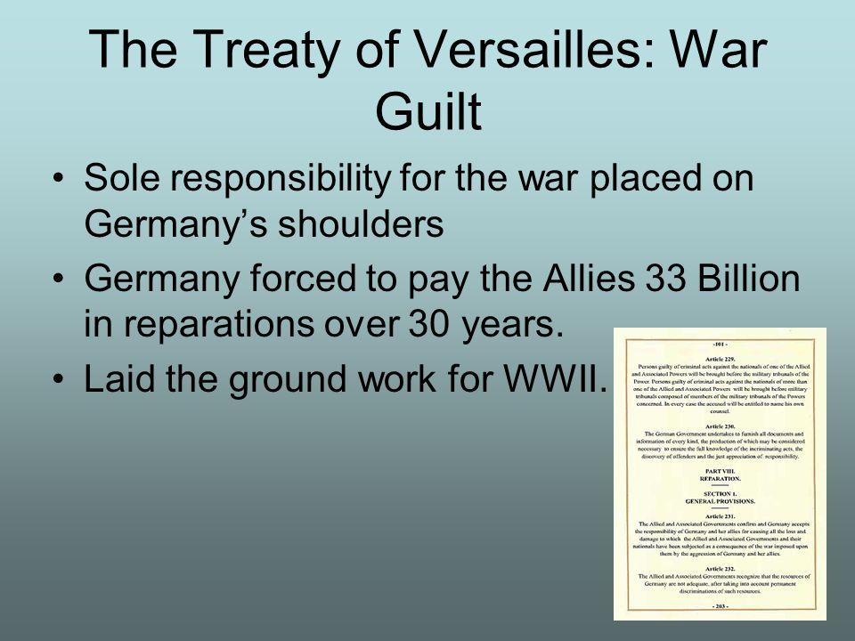 The Treaty of Versailles: War Guilt