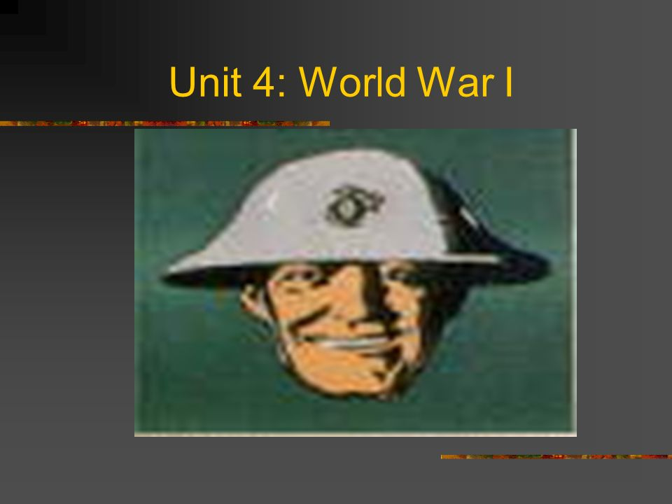 Unit 4: World War I