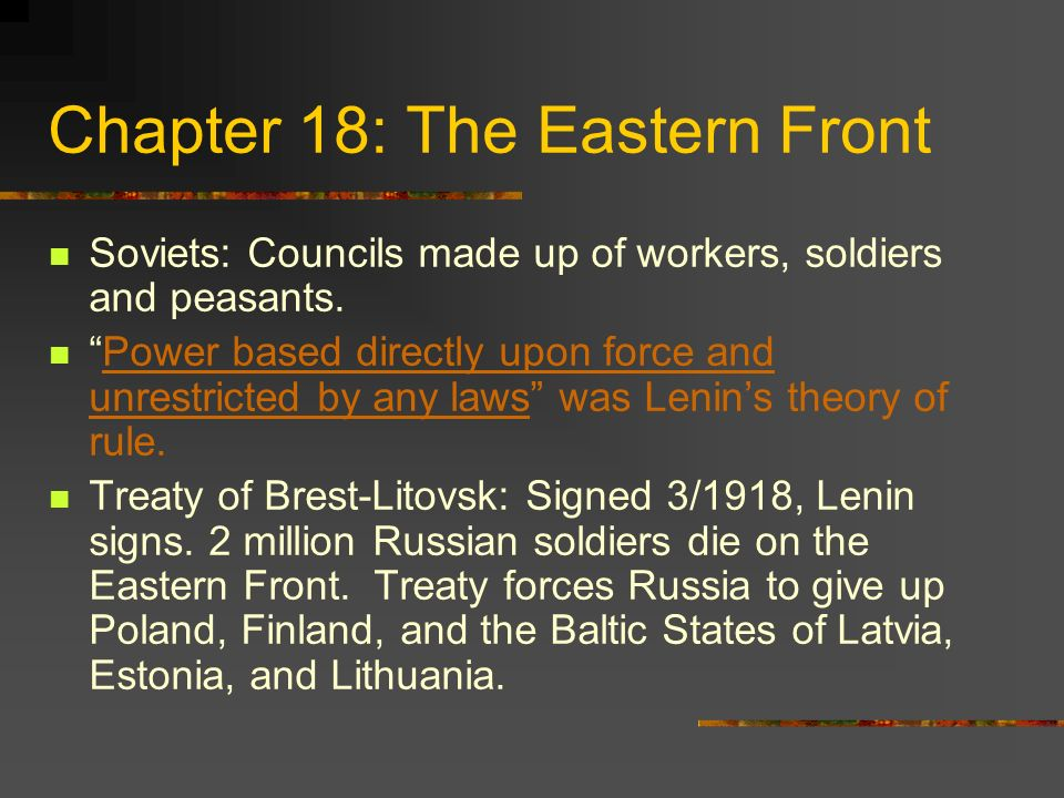 Chapter 18: The Eastern Front