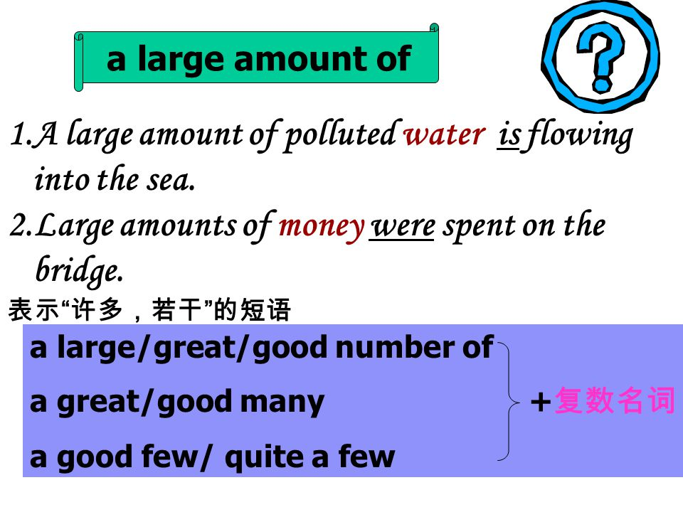 1.A large amount of polluted water is flowing into the sea.