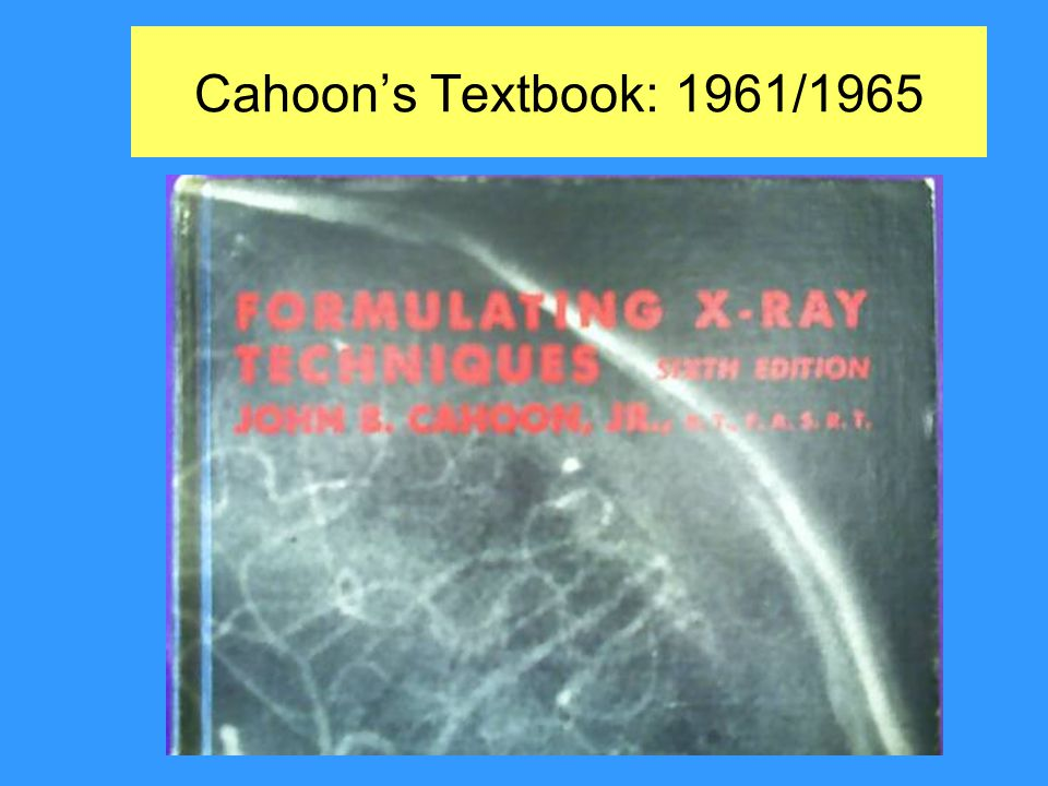 Cahoon's Textbook: 1961/1965