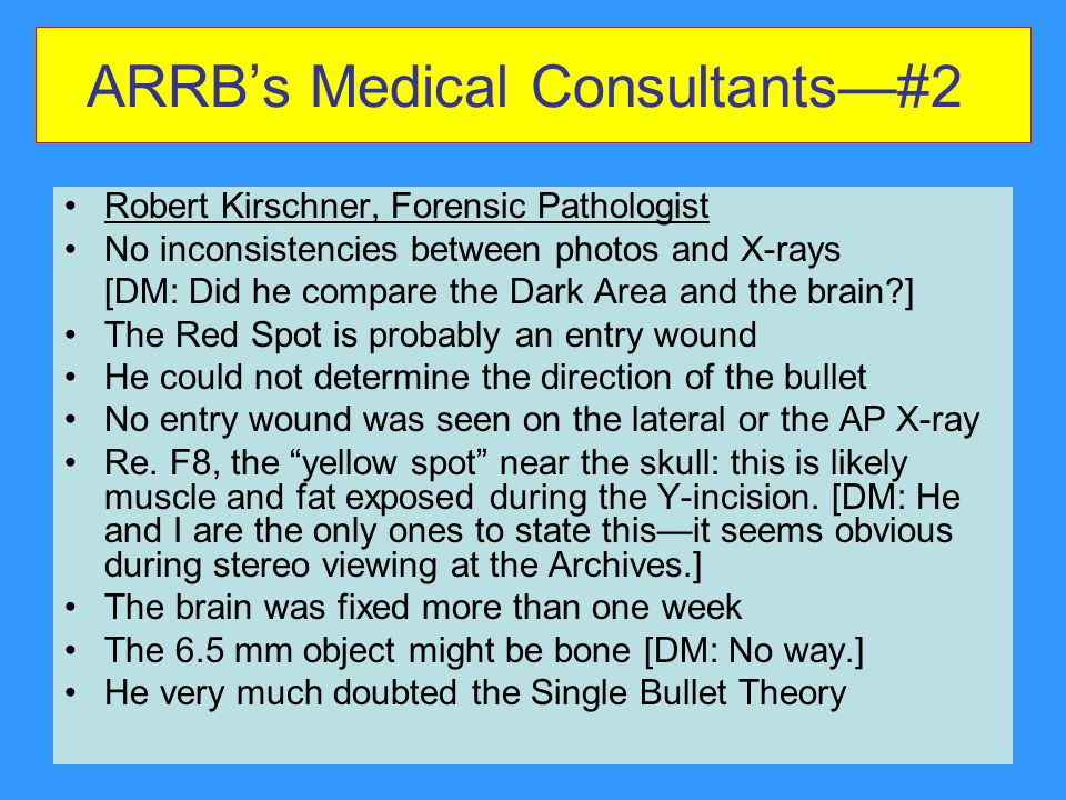 ARRB's Medical Consultants—#2