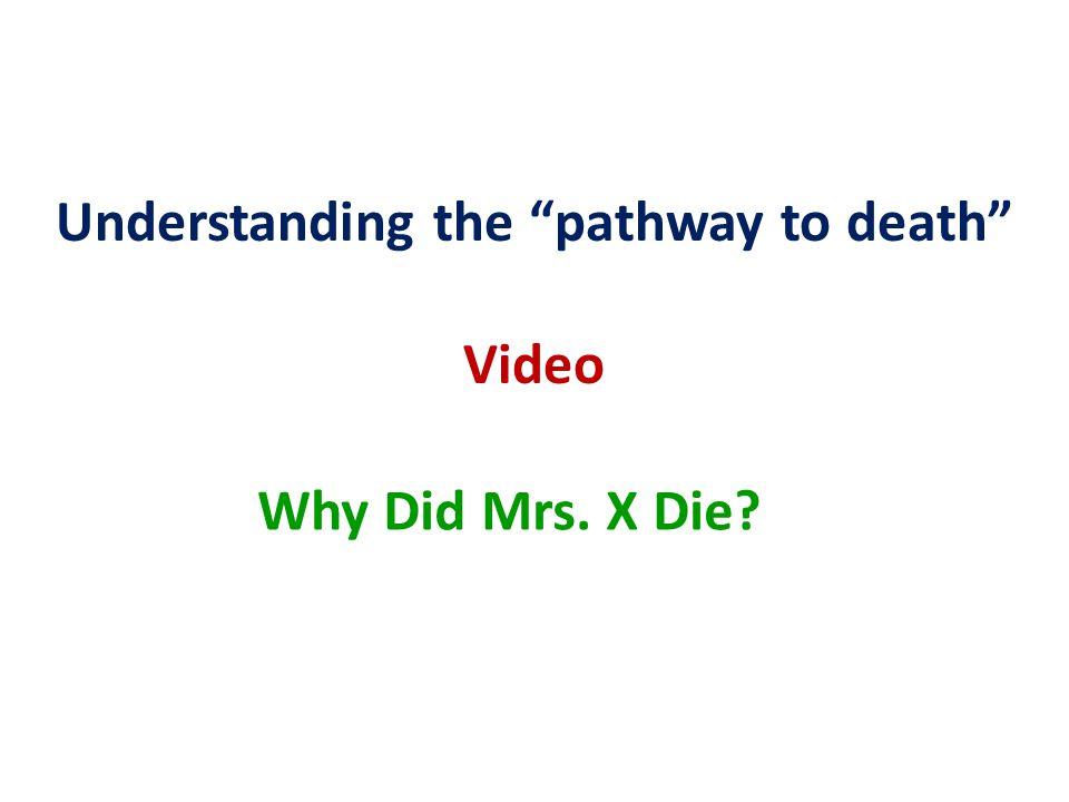 Understanding the pathway to death