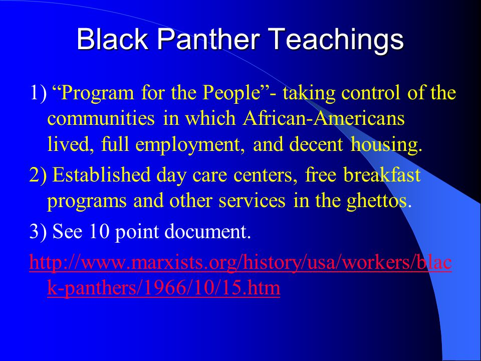 Black Panther Teachings