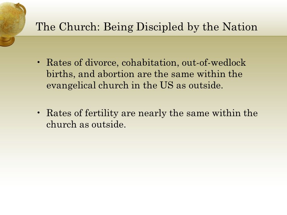 The Church: Being Discipled by the Nation