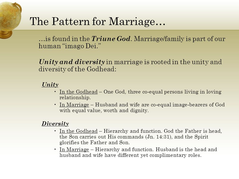 The Pattern for Marriage…