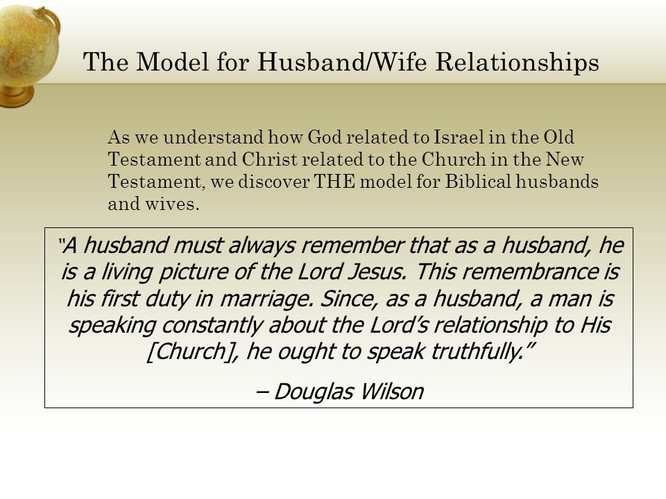 The Model for Husband/Wife Relationships