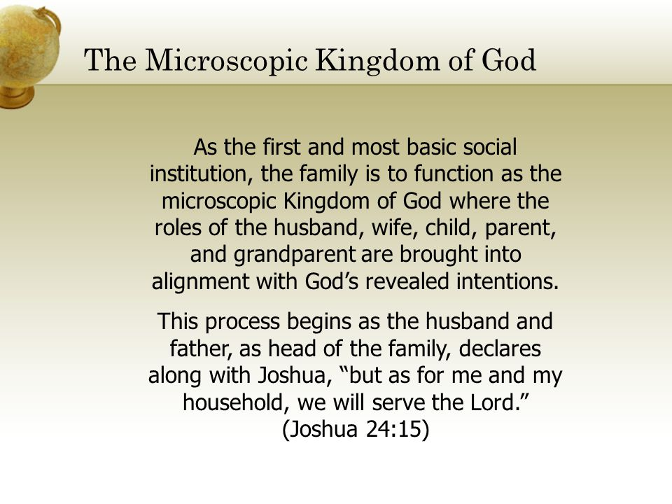 The Microscopic Kingdom of God