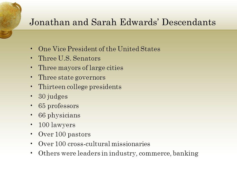 Jonathan and Sarah Edwards' Descendants