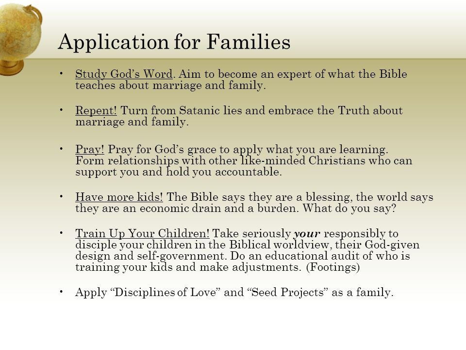 Application for Families