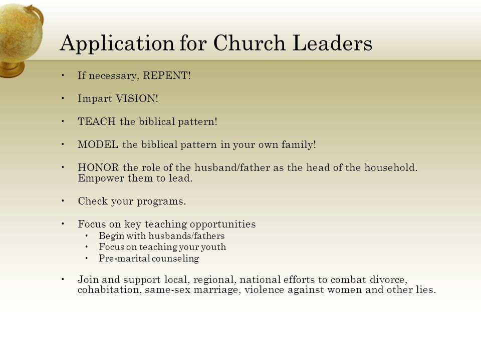 Application for Church Leaders