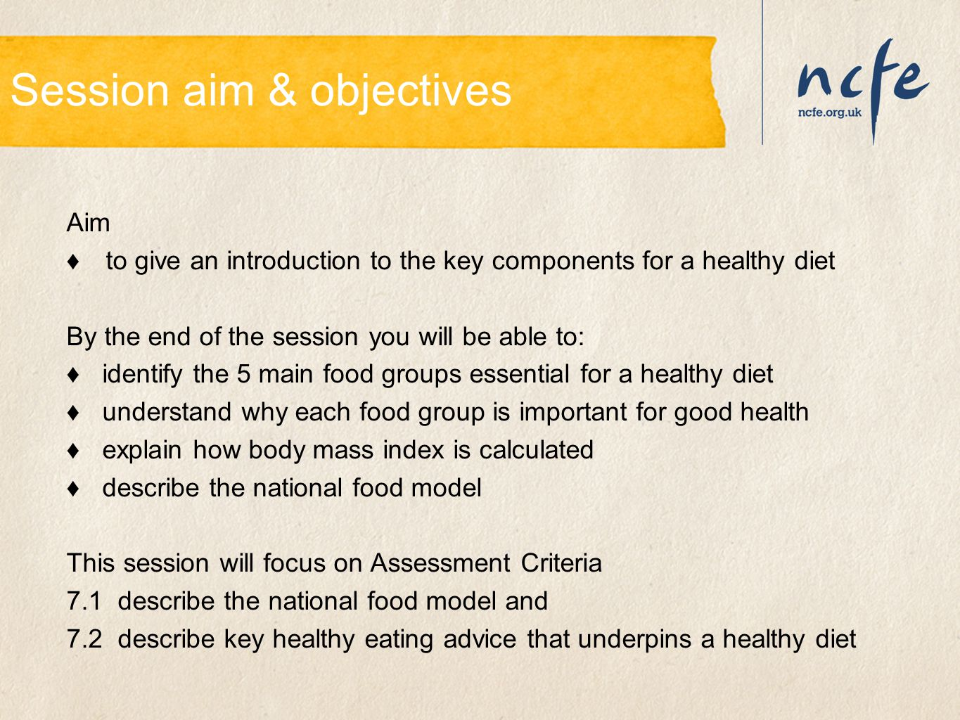 Session aim & objectives