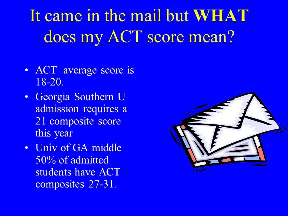 It came in the mail but WHAT does my ACT score mean