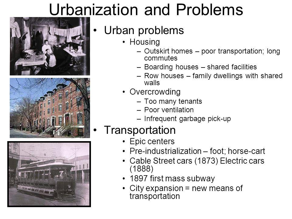 Urbanization and Problems