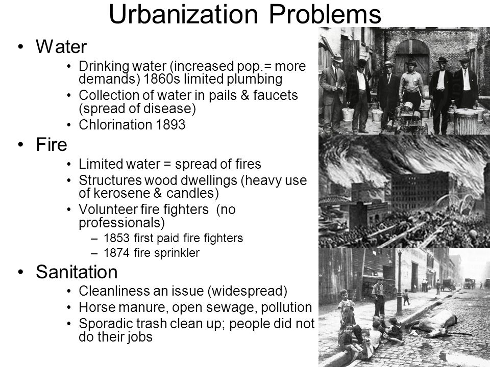 Urbanization Problems