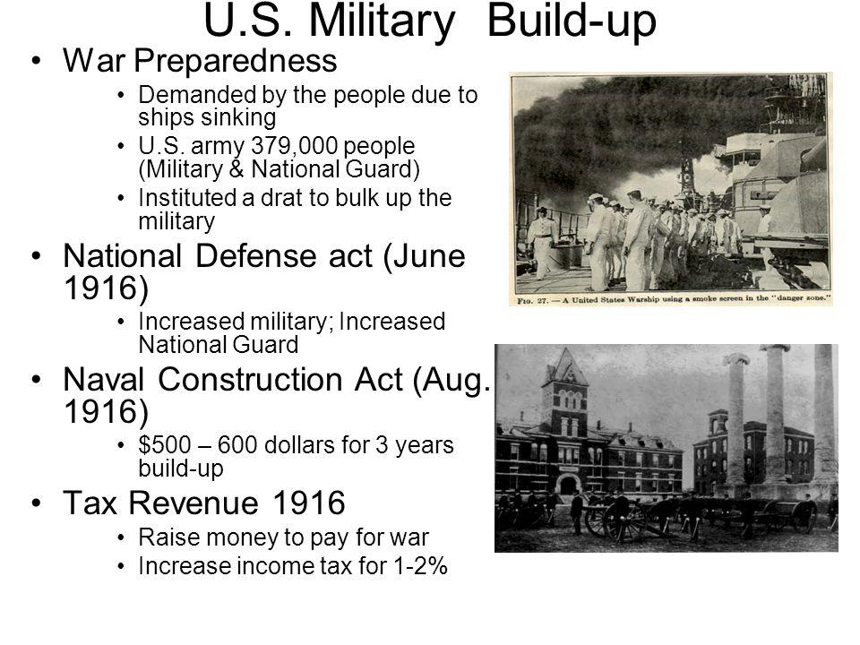 U.S. Military Build-up War Preparedness
