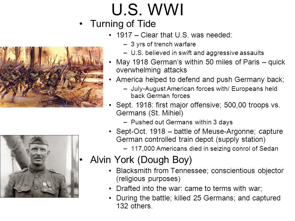 U.S. WWI Turning of Tide Alvin York (Dough Boy)