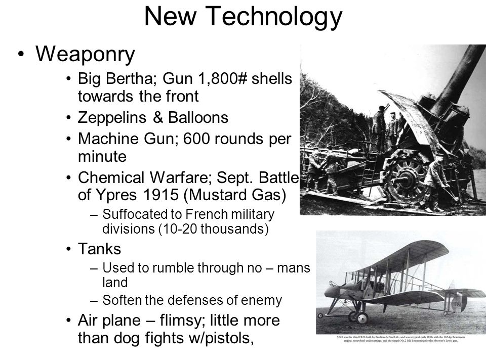 New Technology Weaponry
