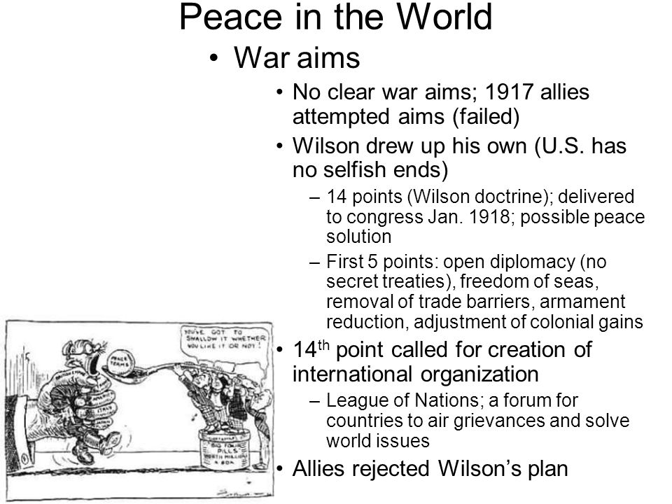 Peace in the World War aims