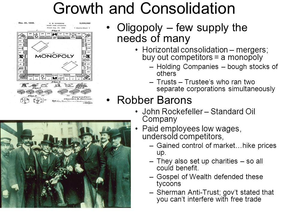 Growth and Consolidation