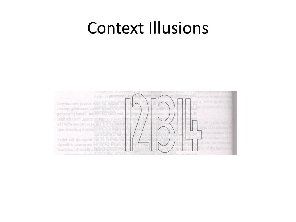 Context Illusions
