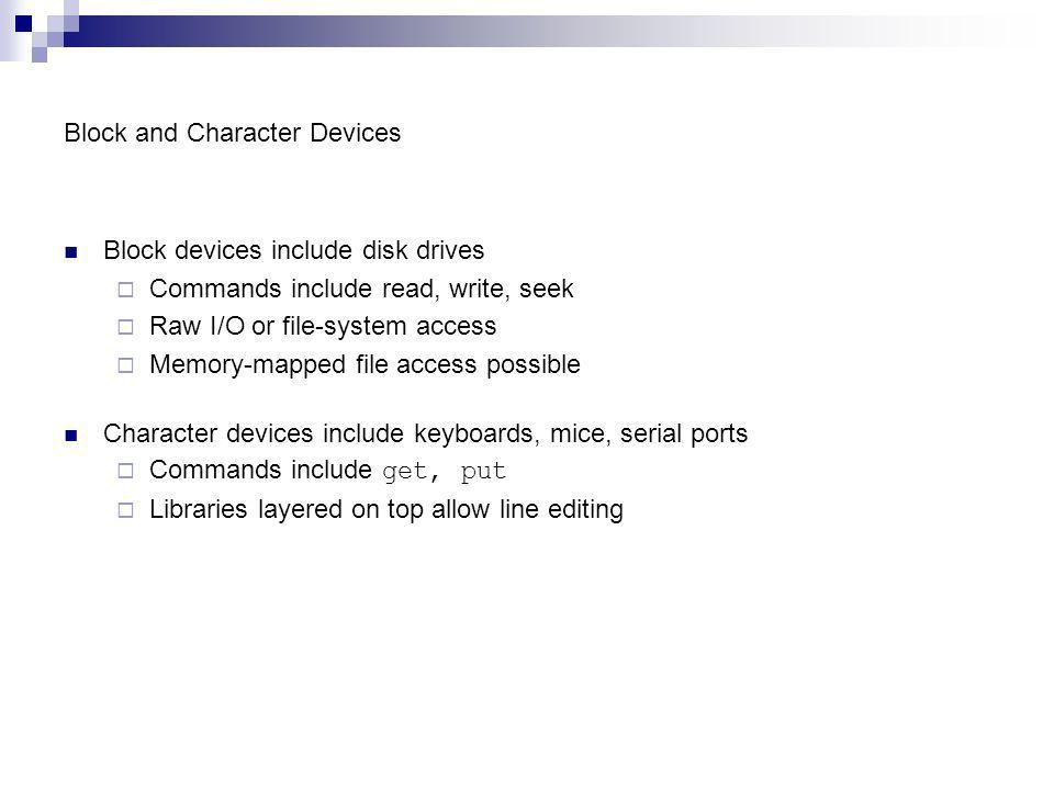 Block and Character Devices