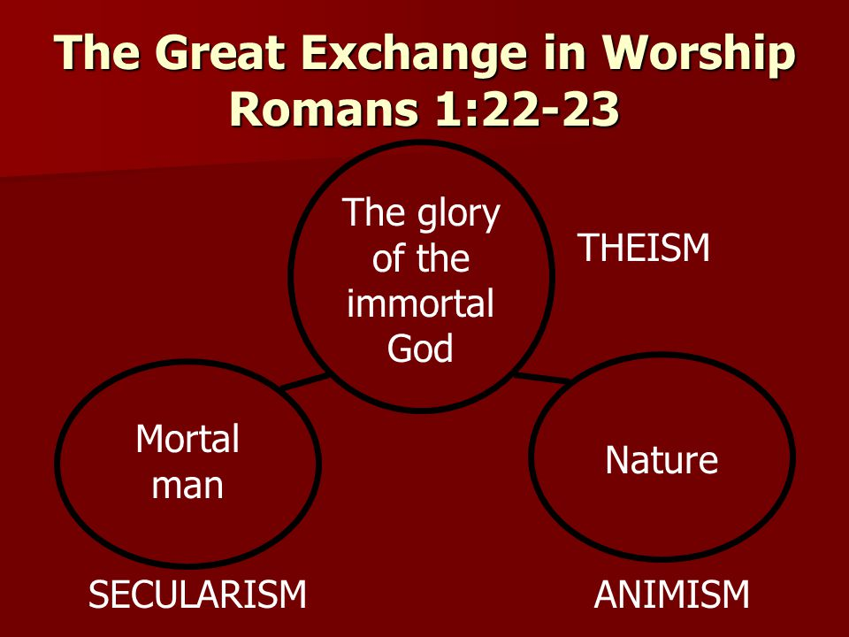 The Great Exchange in Worship Romans 1:22-23
