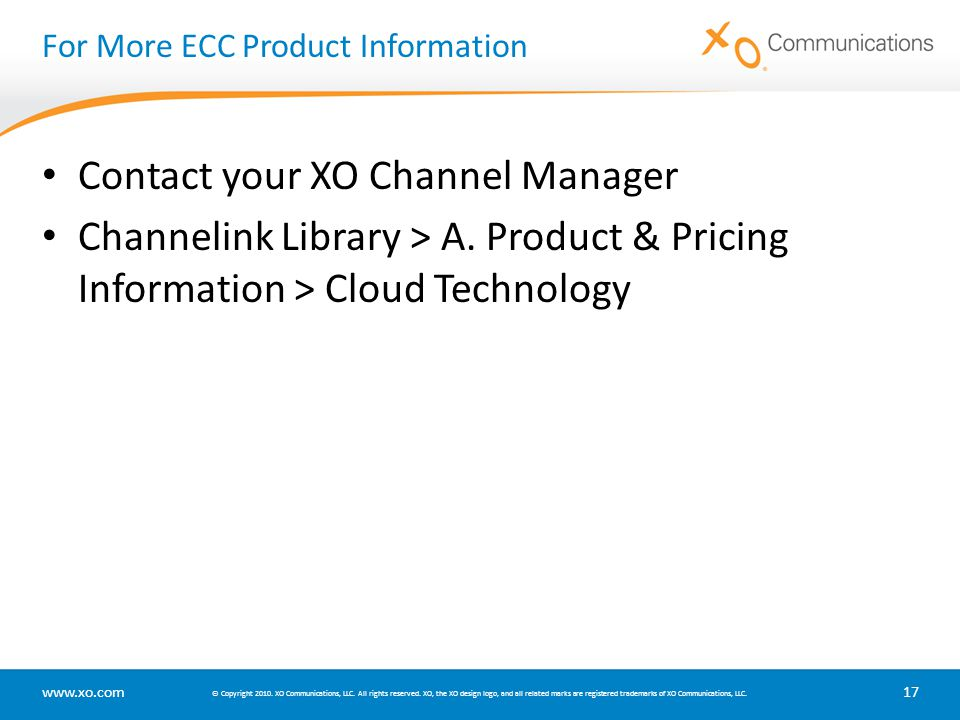 For More ECC Product Information