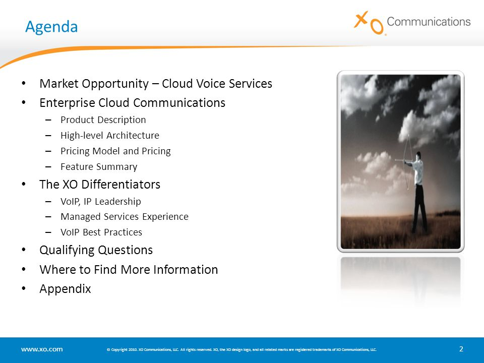 Agenda Market Opportunity – Cloud Voice Services