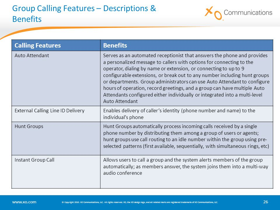 Group Calling Features – Descriptions & Benefits
