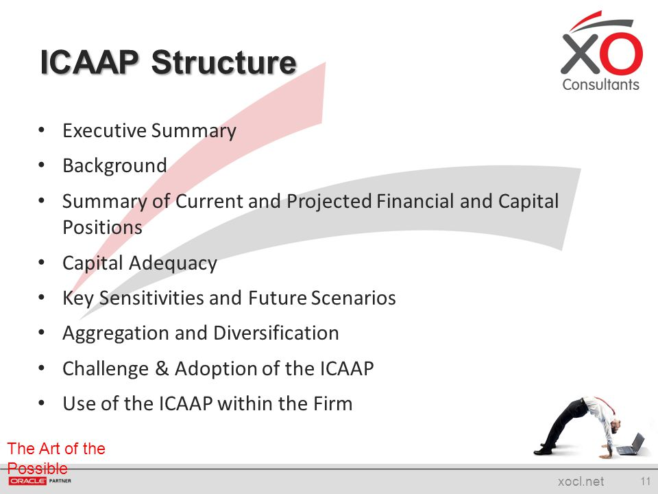 ICAAP Structure Executive Summary Background