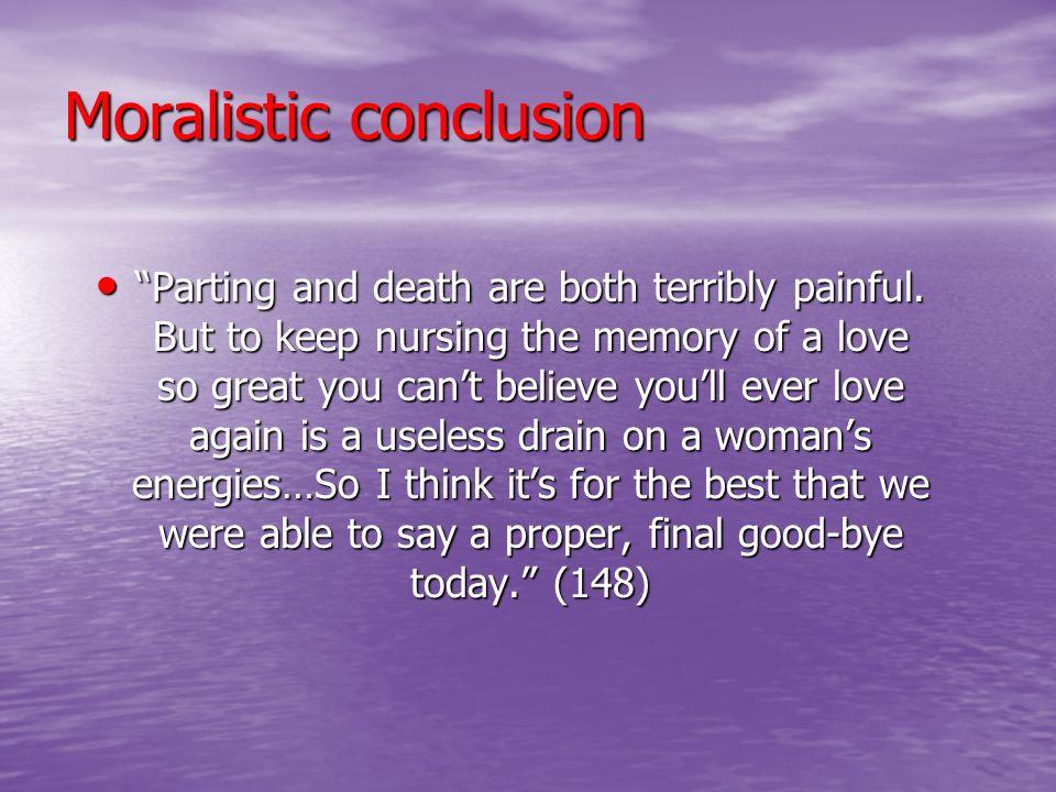 Moralistic conclusion