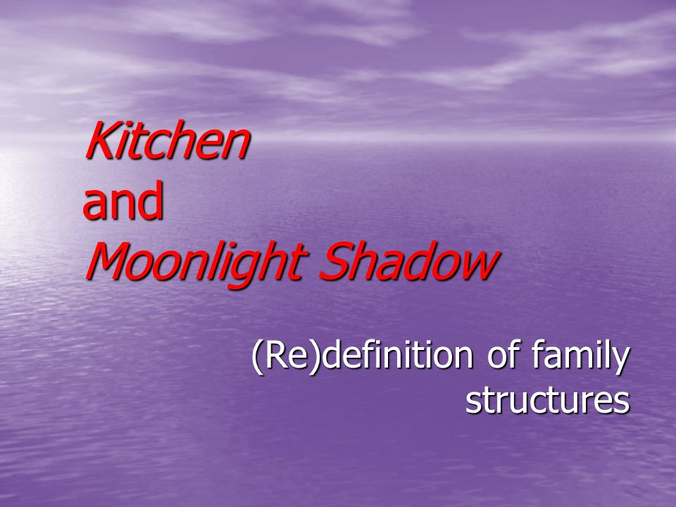 Kitchen and Moonlight Shadow