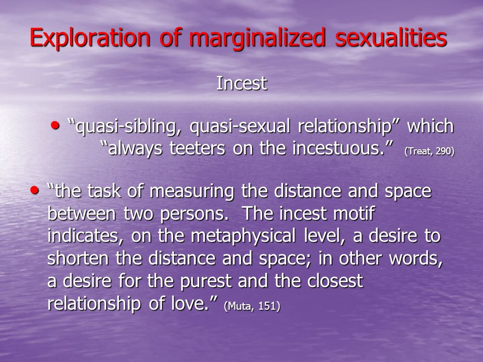 Exploration of marginalized sexualities
